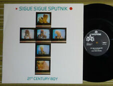 """SIGUE SIGUE SPUTNIK, 21st CENTURY BOY /GIORGIO MORODER/ 12"""" EP 1986 UK EX/EX"""