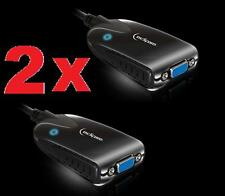 LOT OF 2 Eclipse SEE2 UV150 USB to VGA External Video Card by Mad Catz PC MAC