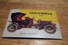 "VINTAGE CAR CARD-1950'S-""CARS"" MAG-U.S.A.-#155 -COLUMBIA ROYAL VICTORIA -1905"