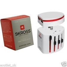 100% Genuine Skross Swiss World Travel Adapter 2 & USB Charger White