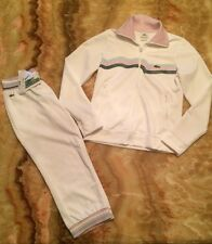 Women's Lacoste Sport 38/Small Full Zip Athletic Track Suit Jacket & Crop Pants