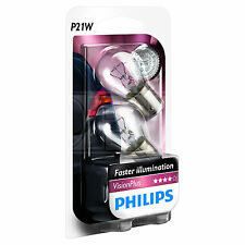 PHILIPS Vision Plus P21W Brake Light Bulbs +50% - TWIN PACK