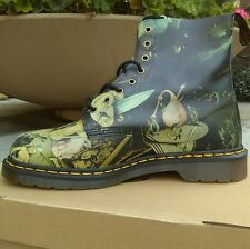DR. MARTENS Pascal Hieronymus Bosch Hell Printed Leather Boots Shoes size 12 men