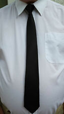 Black Clip On Tie Security Tie Doorman Steward Matte Black Tie Black Funeral Tie