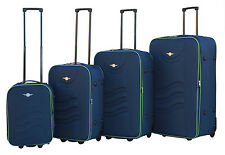 Rivolite Ultra Light weight Soft-Side 4-Pcs -Luggage Set