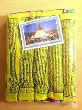 EXTRA LARGE 5 IN 1 SET OF 32cm x 16cm Buddhist Tibetan Prayer Flags Nepal