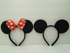 20 LOT Minnie Mouse Mickey Ears Headband Red Polk Dot Bow Birthday Party Favors-