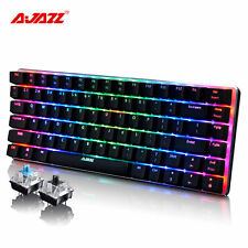 Ajazz AK33 RGB LED Backlight Usb Ergonomic Gaming Gamer Mechanical Keyboard