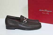 New sz 6 EE Wide SALVATORE FERRAGAMO Magnifico Brown Loafers Leather Men Shoes