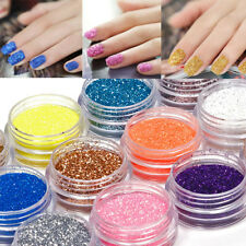 18 COLORS NAIL ART DECOR POWDER GLITTER DUST SET FOR UV GEL ACRYLIC FIRST-RATE