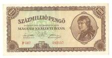 1946 Hungary Hyper Inflation 100000000 / 100 million Pengo  Banknote