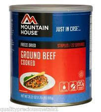 3 - Cans - Ground Beef Cooked- Mountain House Freeze Dried Emergency Food Supply