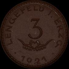 NOTGELD: 3 Mark 1921. Porzellan, Meissen. WITTIG & SCHWABE - LENGEFELD / SACHSEN