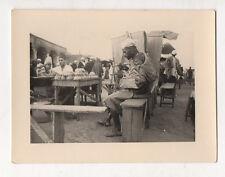 PHOTO Ancienne Afrique Place Djenné et Fua ? Mali ? Vers 1930-1950 Repas Hommes
