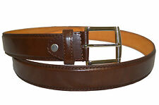 "BELT MENS BIG AND TALL JEANS NEW BROWN LEATHER SIZE 46"" STYLISH CASUAL BELT"