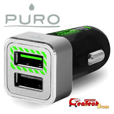 Puro Mini CaricaBatterie da Auto 2.4A 12W Fast Charger Per iPhone 6 6s PLUS NERO