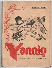A. LE DIUZET YANNIG ILLUSTRATIONS XAVIER DE LANGLAIS 1946 EO ENFANTINA BRETAGNE