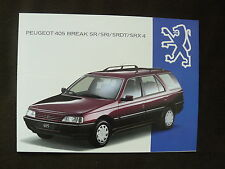 Peugeot 405 Break SR / SRI / SRDT / SRX 4 - Prospekt Brochure 07.1993