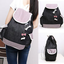 Women Vintage Cute Canvas Travel Backpack School Shoulder Bag Rucksack Satchel