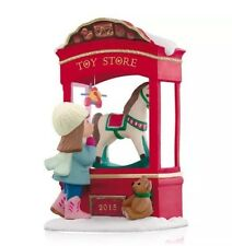 "2015 Hallmark ""Toy Store Dreams"" Magic Ornament - Rocking Horse - Teddy Bear"