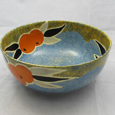 VINTAGE ART DECO CLARICE CLIFF NUAGE BIZARRE LARGE BOWL ORANGE PATTERN