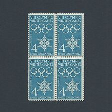 1960 Winter Olympics 57 Year Old Vintage Mint Set of 4 Stamps L@@K!