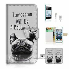 iPod Touch 5 iTouch 5 Flip Wallet Case Cover! P1616 Better Day Dog