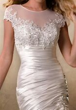 "MAGGIE SOTTERO COUTURE ""AFTON"" WEDDING GOWN BRIDAL BRIDE DRESS CORSET CRYSTAL 12"