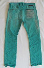 Diesel Safado Slim Straight Jeans DNA Mutation -Green -Size 28 or 29-NWT
