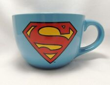 Superman Coffee Soup Cereal Cup Mug Large 24 Ounce Blue Red DC Comics NEW