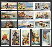 CIGARETTE CARDS. Ogdens Tobacco. SEA ADVENTURE. (Set of 50). (1939). (Excellent)
