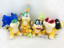 4X Super Mario Bros Koopalings Lemmy Iggy Roy Ludwig Koopa Plush Toy Bowser Kids