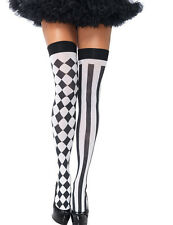 Womens Casual Fairytale Accessory Harlequin Thigh Highs Adult Hosiery Stockings