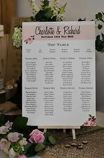 "Shabby chic rose vintage ""Charlotte"" table de mariage A3 plan de cabine-unbacked"