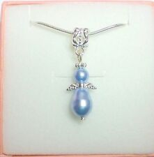 Guardian Angel Necklace made with Swarovski Pearl Elements in Gift Box & Bag