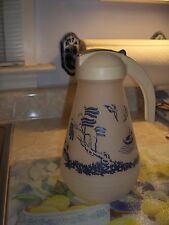 Vintage Hazel Atlas Blue Willow Batter Jug