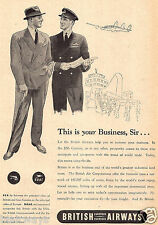 B.O.A.C. & BEA BRITISH EUROPEAN AIRWAYS 1950 THIS IS YOUR BUSINESS,SIR AD
