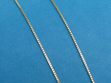 "14k Solid Yellow Gold .50mm BOX CHAIN Necklace - 18"" - New"