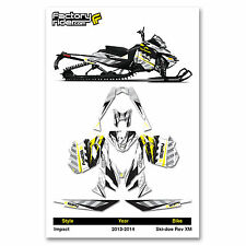 2013-2014 SKI DOO XM SNOWMOBILE GRAPHICS IMPACT STYLE BY ENJOY MFG / 120 TRACK