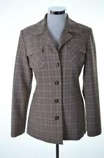 UNITED COLORS BENETTON DA DONNA BLAZER TAGLIA 42 MEDIUM BEIGE CHECK viscosa