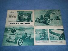 "1929 Ford Roadster Pickup Vintage Hot Rod Article ""Salvage Job"""