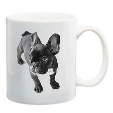 Black French bulldog puppy ceramic coffee mug tea cup