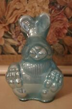 Large Vintage Style Mercury Glass Bunny Rabbit Blue Easter Spring New