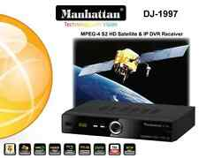 Manhattan DJ-1997 FTA/IP Satellite Receiver w/ Preloaded IPTV Ch & Wi-Fi Antenna