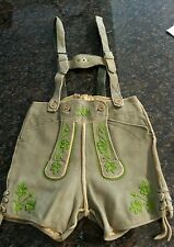 LEDERHOSEN AUTHENTIC VINTAGE GERMAN BAVARIA SUEDE LEATHER OKTOBERFEST