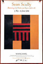 "SEAN SCULLY: Paintings & WoP 1989 Museum Exhibition Poster 30"" x 20"" **NEW**"