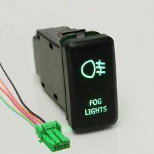 Replacement 12V Green LED Fog Light Push Switch For Toyota Landcruiser Prado FJ