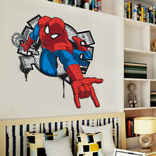3D Spider man kids room decor Wall sticker boys gift Nursery Mural wall decals