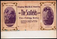 Vaudeville - Singing Music Dancing - Scofields - Two Fidling Rubes Letter Head