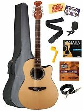 NEW Applause AB24-4 Balladeer Acoustic/Electric Guitar Natural Bundle Many Gifts